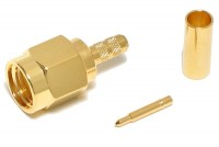 SMA-CONNECTOR MALE CRIMP FOR RG316/174 CABLE