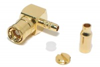SMB FEMALE CRIMP ANGLE FOR RG178 CABLE