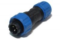 PLUG MALE 3-PIN IP68 13A 250V