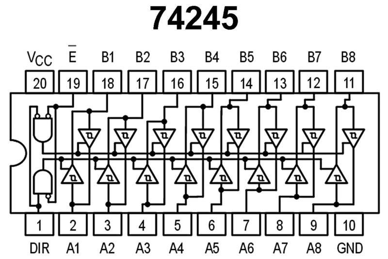 retail cmos logic ic 74245 hct-family 18pcs