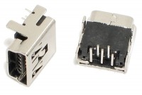 USB miniB NAARAS RUNKOLIITIN PIIRILEVYLLE