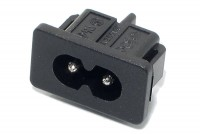 IEC C8 (EURO) PANEL SOCKET SNAP-IN