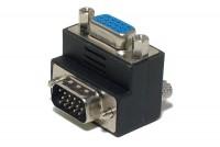 VGA KULMA-ADAPTERI HD15 UROS/NAARAS