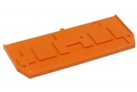 DIN-RAIL 3-CONDUCTOR BLOCK END PLATE