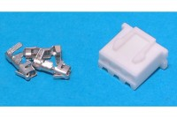 JST XH-CONNECTOR 3-POLE (pins incl.)