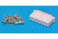 JST XH-CONNECTOR 6-POLE (pins incl.)