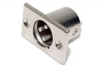 XLR MALE PANEL MOUNT SOCKET 3-PIN