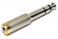 ADAPTER JACK STEREO 3,5mm / PLUG STEREO 6,3mm METAL