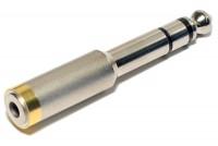 ADAPTERI JAKKI STEREO 3,5mm / PLUGI STEREO 6,3mm METALLI