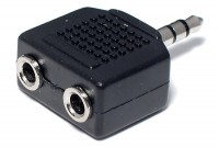 ADAPTER 2x JACK STEREO 3,5mm / PLUG STEREO 3,5mm