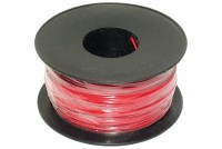 EQUIPMENT WIRE 0,22mm2 RED 100m roll