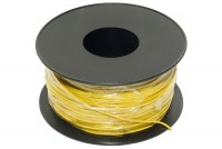 EQUIPMENT WIRE 0,22mm2 YELLOW 100m roll