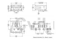 USB 2.0 A NAARAS PIIRILEVYLLE SMT (musta eriste)