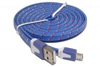 LITTEÄ USB-2.0 KAAPELI A-U/microB 1,8m sininen