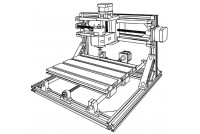 Linksprite DIY CNC 2418 KAIVERRIN (itsekoottava)