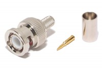 BNC CONNECTOR MALE CRIMP FOR HFX50 CABLE