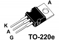 TYRISTORI 12A 650V 15 fast/20mA TO220