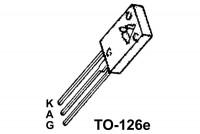 THYRISTOR 2,2A 600V 0,2/3mA TO126