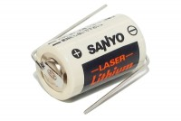 LITHIUM BATTERY 3V 1/2AA-SIZE WITH LEADS
