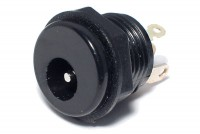 DC PANEL SOCKET 2,1/5,5mm INSULATED WITH SWITCH