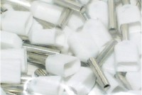 WIRE END FERRULE 2x0,5mm2 WHITE 100pcs
