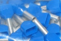 WIRE END FERRULE 2x2,5mm2 BLUE 100pcs