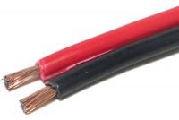 SPEAKER CABLE 2x 1,00mm2 REDBLACK (CCA) 1m