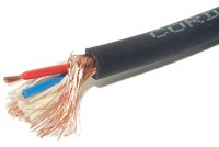 MICROPHONE CABLE 2x 0,50mm2 BLACK 1m