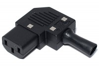 IEC C13 POWER PLUG FEMALE SIDE ENTRY