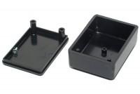 BLACK PLASTIC BOX 20x37x51mm