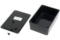 BLACK PLASTIC BOX 27x48x75mm