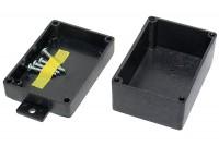 WALL MOUNT BLACK PLASTIC ENCLOSURE 27x50x72mm