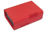 RED PLASTIC BOX FOR 75x100mm PCB