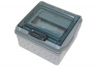 TRANSPARENT PLASTIC ENCLOSURE 8-MOD DIN-RAIL IP65