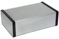 CLEAR ANODIZED ALUMINUM ENCLOSURE 53x103x160mm