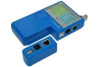CABLE TESTER RJ45/RJ11/USB A+B/BNC
