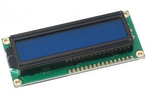 LCD-NÄYTTÖ 2x16 SINIVALKOINEN LED-TAUSTAVALOLLA