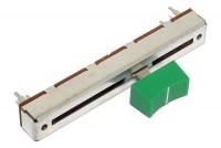 LIUKUPOTENTIOMETRI 60mm MONO LINEAARI(B) 10kohm NUPILLA (vihreä)