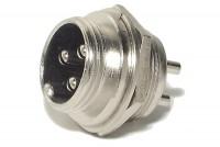 MIC CONNECTOR 3-PIN PANEL MOUNTSOCKET