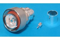 7/16 COAXIAL RF CONNECTOR MALE CRIMP FOR LMR500 CABLE