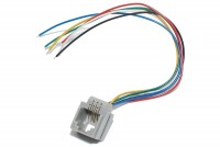 RJ12 (6P6C) SOCKET WITH WIRES
