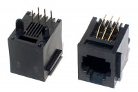 RJ12 (6P6C) SOCKET PCB STRAIGHT
