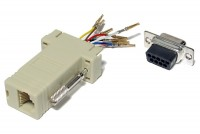 D-CONNECTOR BOX RJ45 (8P8C) / D9 MALE