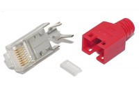 Hirose RJ45 (8P8C)-CONNECTOR CAT5e SHIELDED RED