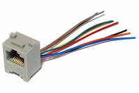 RJ45 (8P8C) SOCKET WITH WIRES