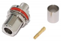 N CONNECTOR FEMALE PANEL CRIMP FOR RG213 CABLE
