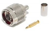 N CONNECTOR MALE CRIMP FOR HFX50 CABLE