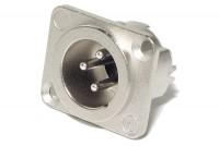 Neutrik XLR-MALE 3-PIN PANEL MOUNT SOCKET