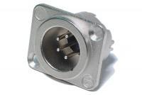 Neutrik XLR-MALE 4-PIN PANEL MOUNT SOCKET