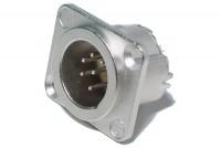 Neutrik XLR-MALE 6-PIN PANEL MOUNT SOCKET